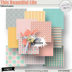 This Beautiful Life Patterned papers biggie details