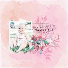 Layout using ScrapSimple Digital Layout Collection:Just Beautiful