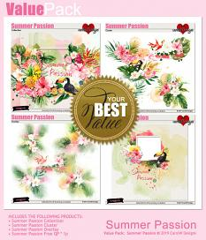 ScrapSimple Digital Layout Collection:Summer Passion