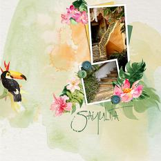 Layout using ScrapSimple Digital Layout Collection:Summer Passion