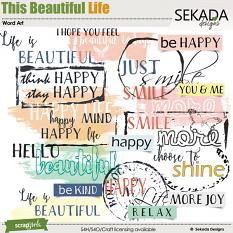 This Beautiful Life Word Art