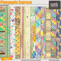Pineapple Express Wood Papers