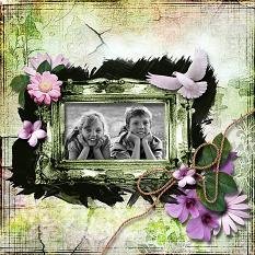 Layout using Summer Meadow Photo Masks
