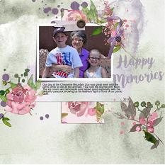 Layout using ScrapSimple Digital Layout Collection:Happymemories