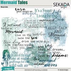 Mermaid Tales Word Art