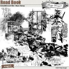 Road Book Black Stamps by Florju Designs