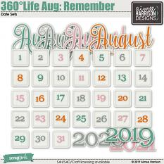 360°Life Aug: Remember Dates