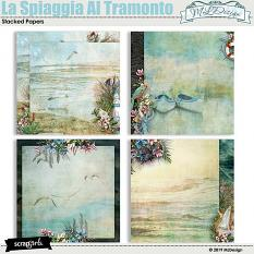 La Spiaggia Al Tramonto stacked papers