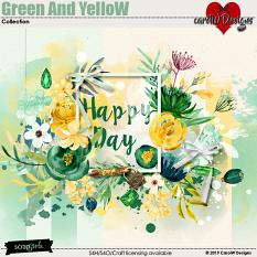 ScrapSimple Digital Layout Collection:Green And Yellow