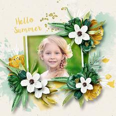 Layout using ScrapSimple Digital Layout Collection:Green And Yellow
