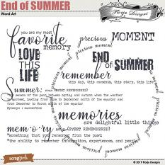 layout using End of SUMMER Collection Biggie by Florju Designs
