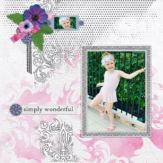 """Simply Wonderful"" digital scrapbook layout by Andrea Hutton"