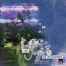 """Brecon Canal"" digital scrapbook layout by Marie Hoorne"
