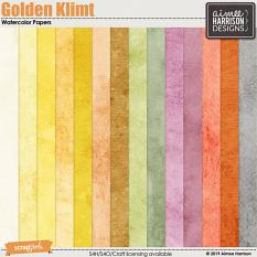 Golden Klimt Watercolor Papers