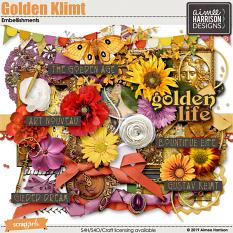 Golden Klimt Embellishments