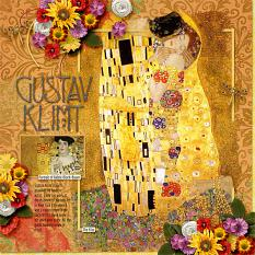 Golden Klimt Layout