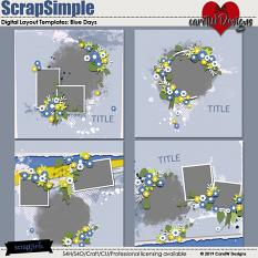 ScrapSimple Digital Layout Templates:Blue Days