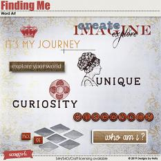 Finding Me Word Art by Designs by Helly