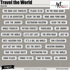 Travel the World Word Strips