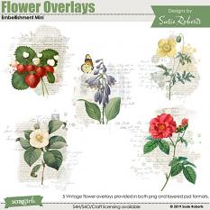 Flower Overlays Embellishment Mini Preview