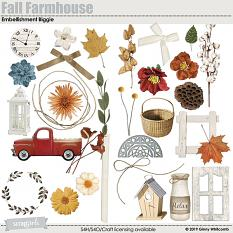 Fall Farmhouse Embellishment Biggie