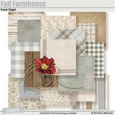 Fall Farmhouse Paper Biggie Samples