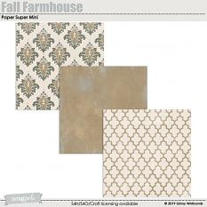 Fall Farmhouse Paper Super Mini