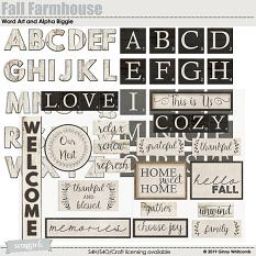 Fall Farmhouse Word Art and Alpha Biggie