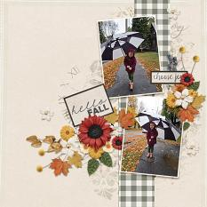 Choose Joy digital scrapbooking layout by Andrea Hutton featuring the Fall Farmhouse Collections