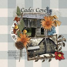 Cades Cove digital scrapbooking layout by Sondra Cook featuring the Fall Farmhouse Collections