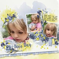 Layout using ScrapSimple Digital Layout Templates:Blue Days