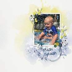 Layout using ScrapSimple Digital Layout Collection:Blue Days