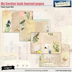 My Garden Paper Mini Junk Journal Pages by Aftermidnight Design