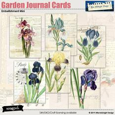 My Garden embellishment Mini Journal Cards by Aftermidnight Design