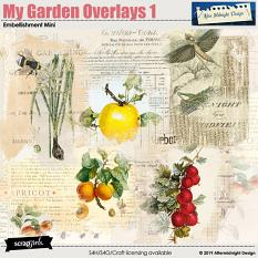 My Garden Embellishment Mini Overlays 1 by Aftermidnight Design