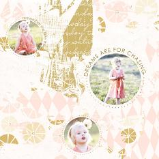 Layout created with Just Funky Paper Template Overlays