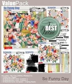 layout using So Funny Day Collection Biggie by Florju designs