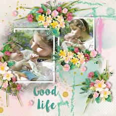 Layout using ScrapSimple Digital Layout Templates:Good Life