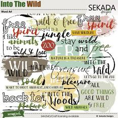 Into The Wild Word Art