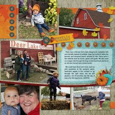 """""""Acres of Fun"""" digital scrapbook layout features Value Pack: Scrap It Monthly 5"""
