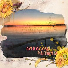 Layout using ScrapSimple Digital Layout Collection:Autumn!