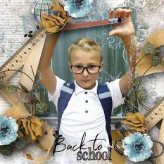 layout using Back To School Collection Biggie by florju