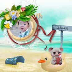 layout using Beach Fun Collection by BeeCreation