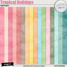 Tropical Holidays Solid papers