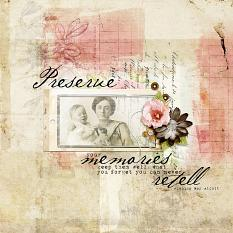 Scrapbook layout created with Altered Art Templates