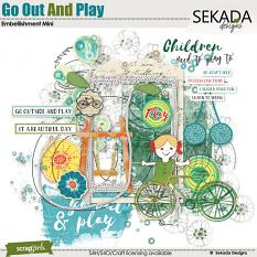 Go Out And Play Embellishment Mini