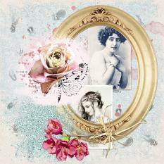layout by Marie Orsini using Treasured Moment Collection Mini by Aftermidnight Design