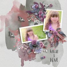 Layout using ScrapSimple Digital Layout Collection:What I Love