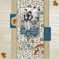 """""""Cozy Autumn"""" digital scrapbooking layout using Cozy Autumn Collections"""