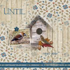 """""""Until Next Year"""" digital scrapbooking layout using Cozy Autumn Collections"""